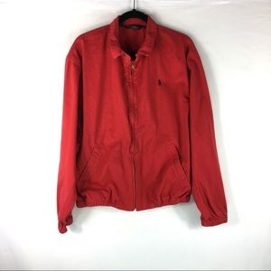 Polo Ralph Lauren Jacket Mens Size Large Red